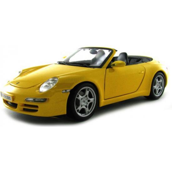 Maisto Schaalmodel Porsche 911 Carrera S Cabrio geel Speelgoedvoertuigen
