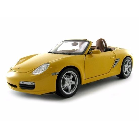 Maisto Schaalmodel Porsche Boxter S Cabrio geel Speelgoedvoertuigen
