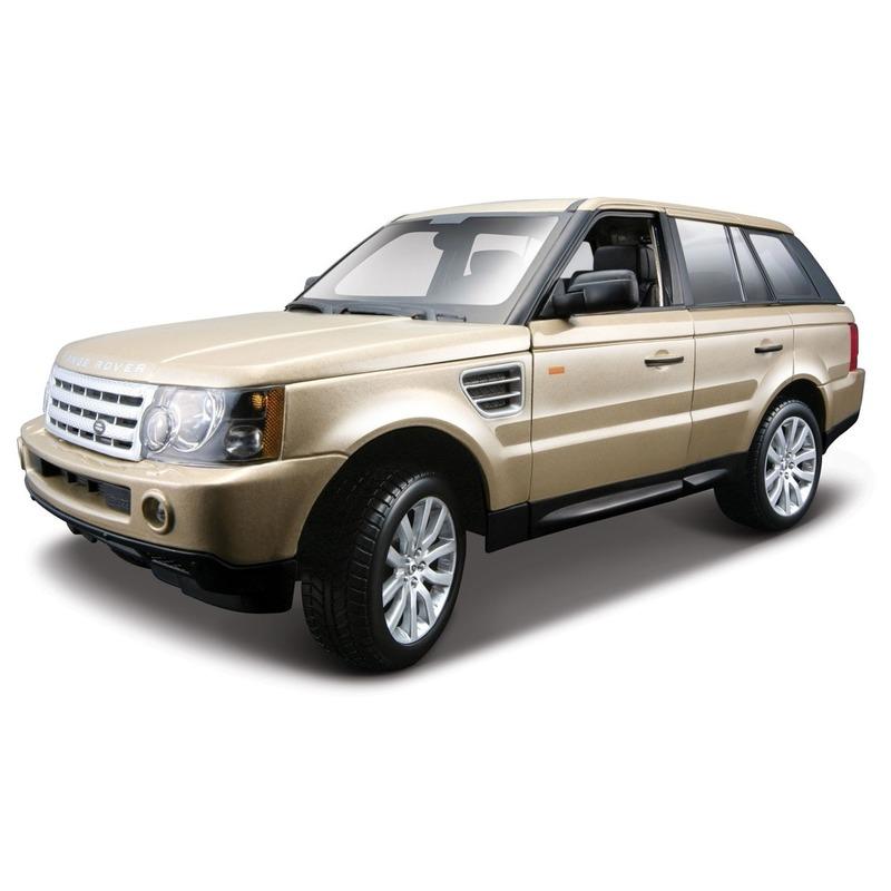 Speelgoedvoertuigen Schaalmodel Range Rover Sport goud metallic 1 18