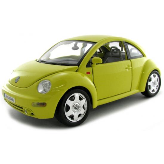Speelgoedvoertuigen Schaalmodel Volkswagen Beetle geel 1 18