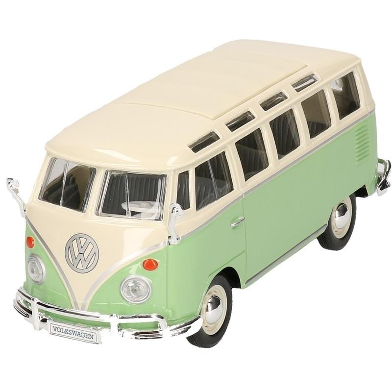 Speelgoedvoertuigen Maisto Schaalmodel Volkswagen Samba groen 1 24
