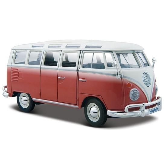Schaalmodel Volkswagen Samba rood 1 24 Maisto gaafste producten