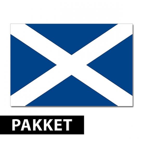 Shoppartners Schotland thema decoratie Landen versiering en vlaggen