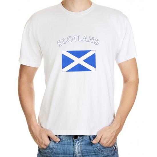 Landen versiering en vlaggen Shoppartners Schotland vlag t shirt
