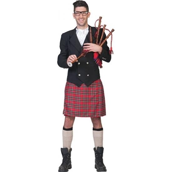 Schots kostuum voor heren. dit schotse heren kostuum bestaat uit een schotse kilt, het jasje en de jabot....