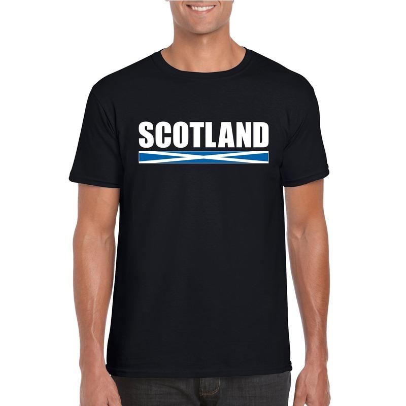 Landen versiering en vlaggen Schotse supporter t shirt zwart voor heren