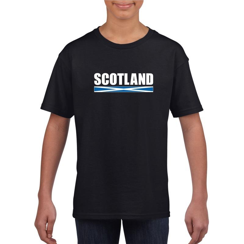 Schotse supporter t shirt zwart voor kinderen Shoppartners voordeligste prijs