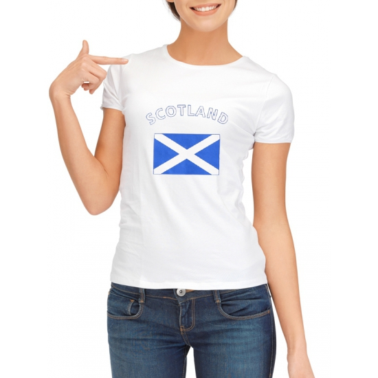 Landen versiering en vlaggen Shoppartners Schotse vlag t shirt voor dames
