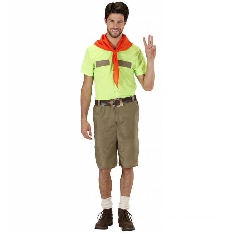 Padvinder kostuum voor heren. padvinder / scouting kostuum voor heren, inclusief shirt, broek, riem en rood ...