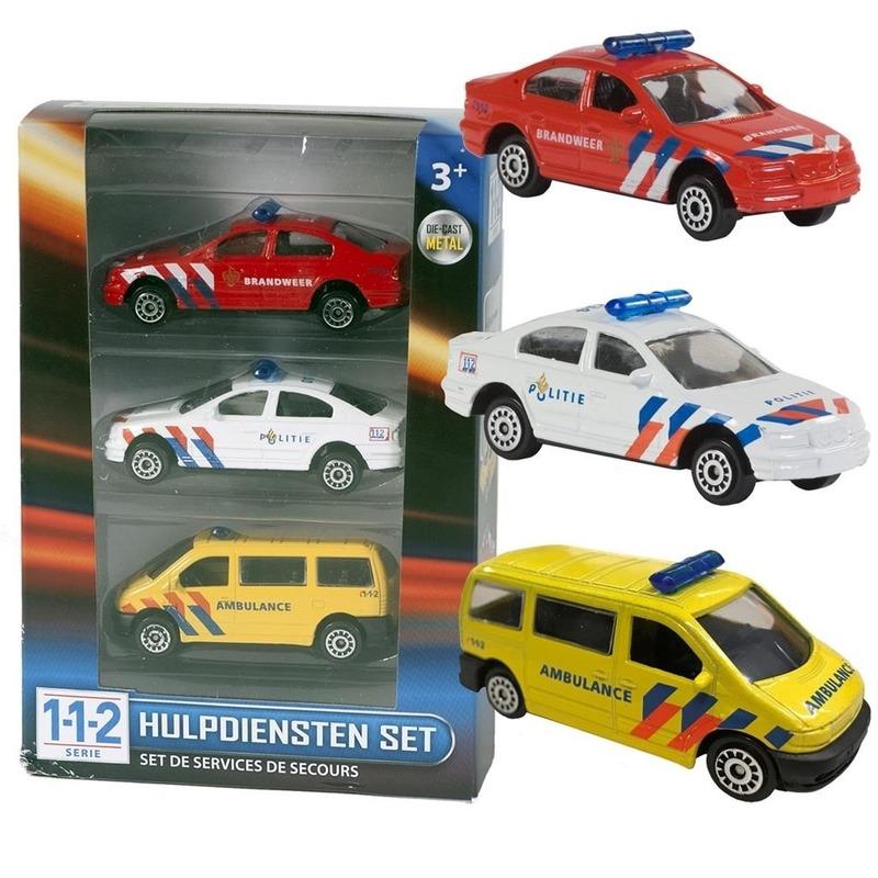 Speelgoedvoertuigen Geen Siku 112 modelauto 3 delige set