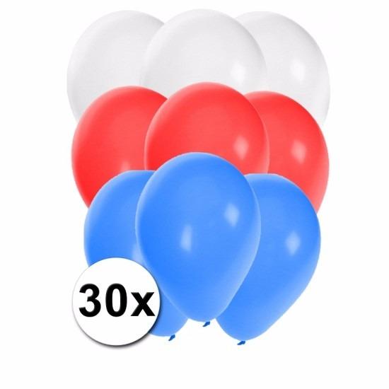 Slovenie ballonnen pakket 30x Shoppartners Landen versiering en vlaggen