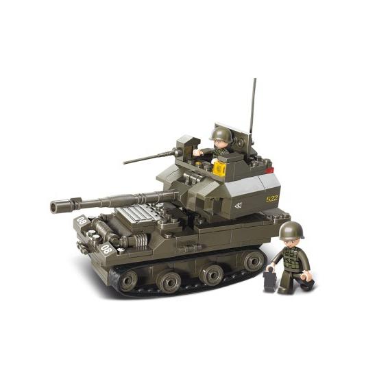 Sluban Sluban bouwpakket kleine tank 28,5 x 23,7 cm Educatief speelgoed