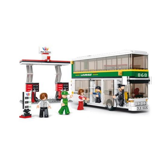 Educatief speelgoed Sluban Sluban tour bus en tankstation