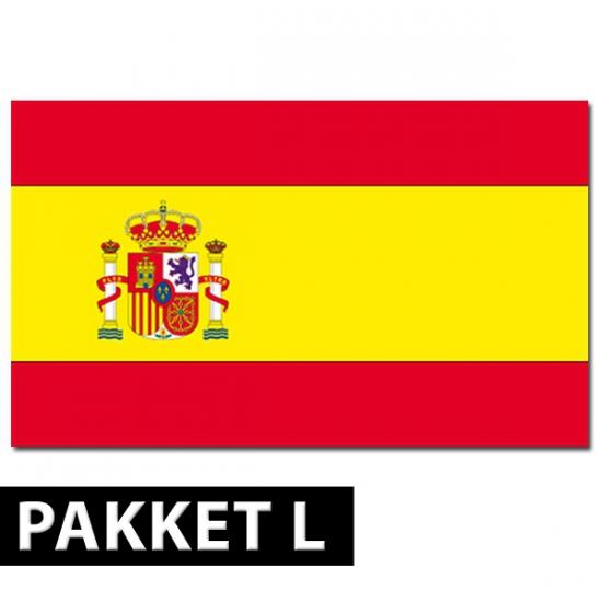 Landen versiering en vlaggen Shoppartners Spaans versiering pakket groot