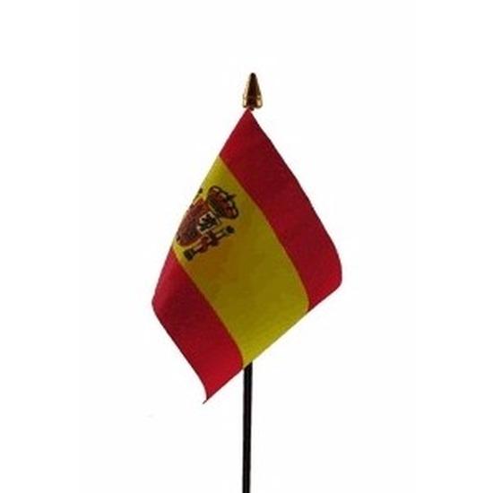 Landen versiering en vlaggen Geen Spanje vlaggetje polyester