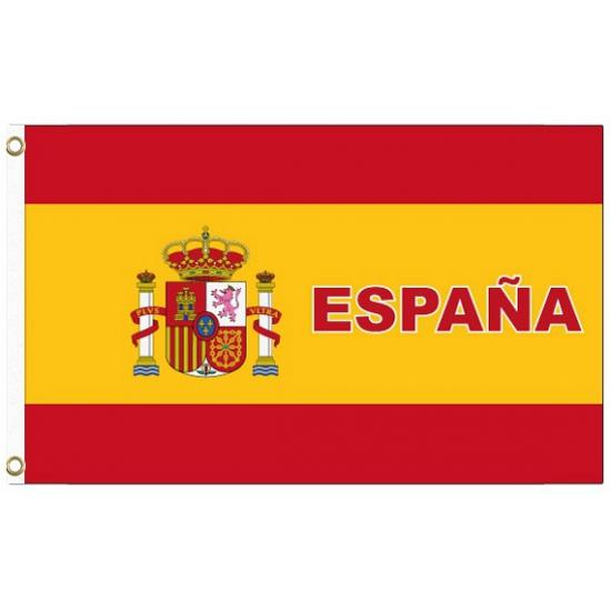 Spanje voetbal vlag Geen Landen versiering en vlaggen
