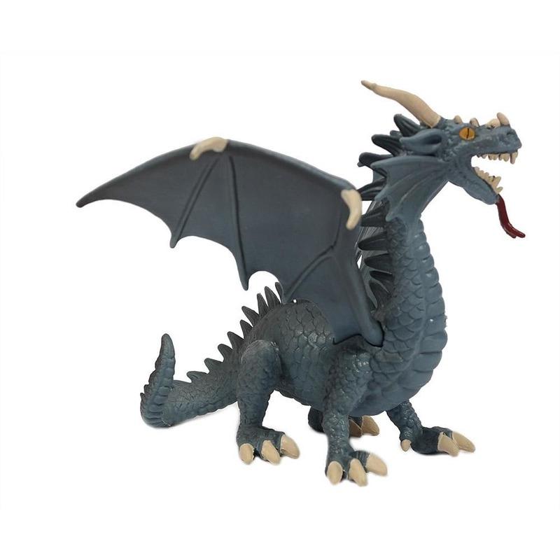 Geen Speelfiguur draak blauw 21 cm Speelfiguren sets