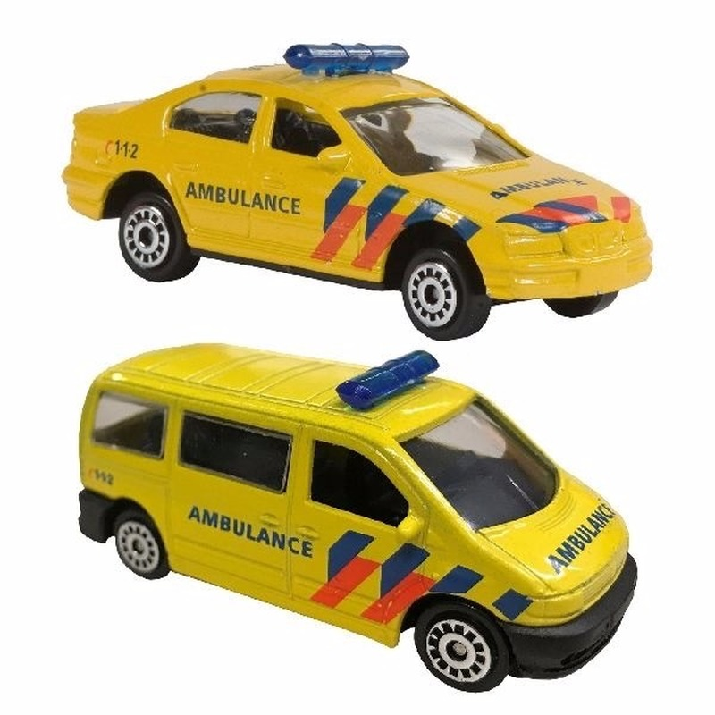 Welly Speelgoed 112 Ambulance set 2 delig Speelgoedvoertuigen