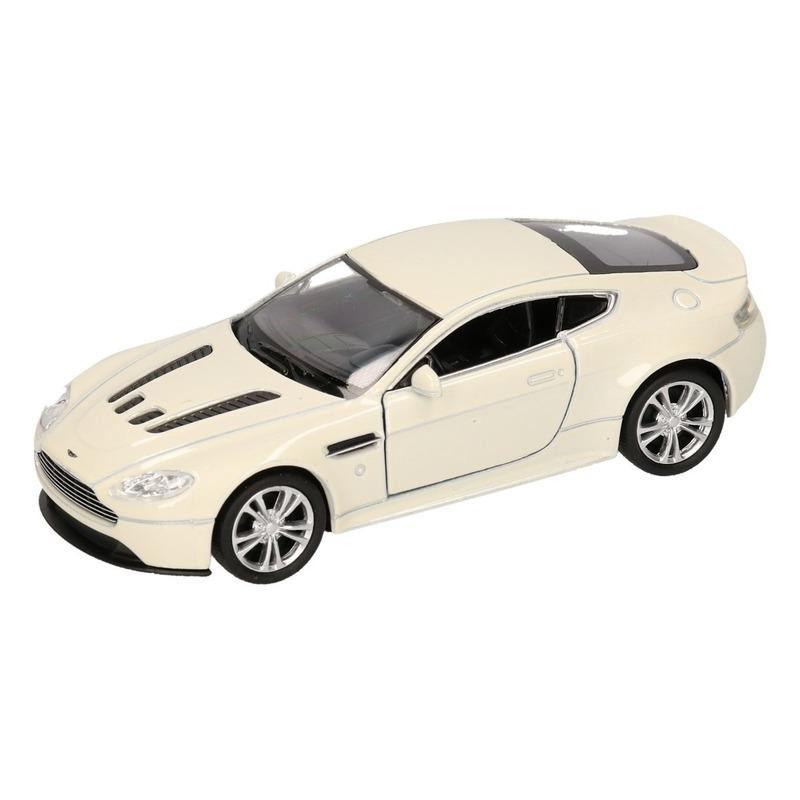 Speelgoedvoertuigen Speelgoed Aston Martin Vantage wit Welly autootje 1 36