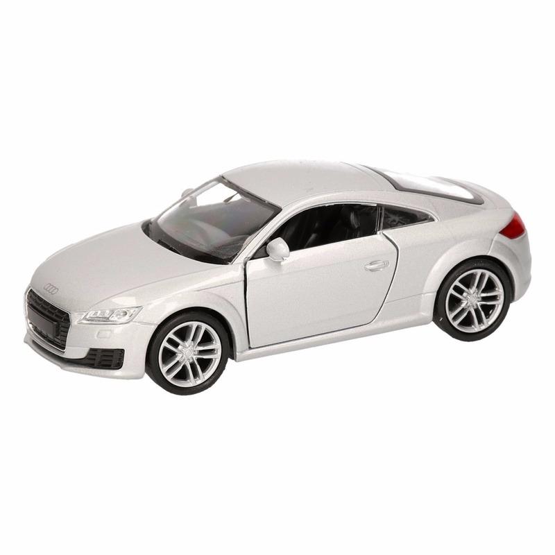 Speelgoedvoertuigen Audi Speelgoed Audi 2014 TT Coupe grijs autootje 12 cm