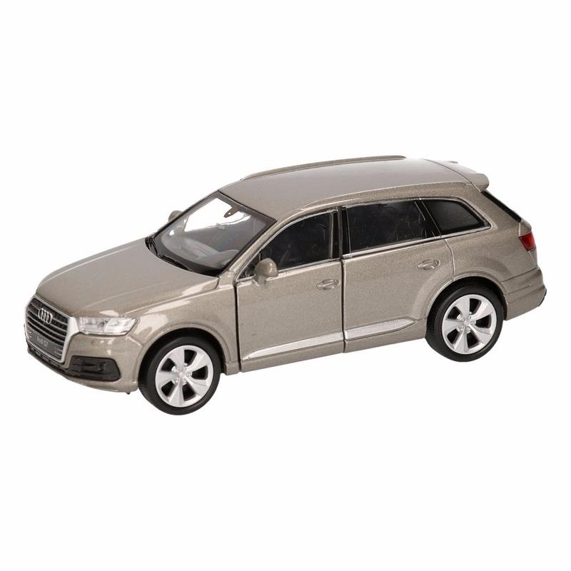 Speelgoedvoertuigen Speelgoed Audi Q7 grijs autootje 12 cm