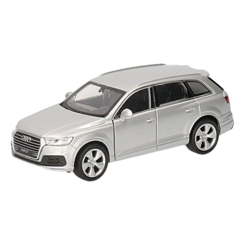 Speelgoed Audi Q7 zilver autootje 12 cm Audi Speelgoedvoertuigen