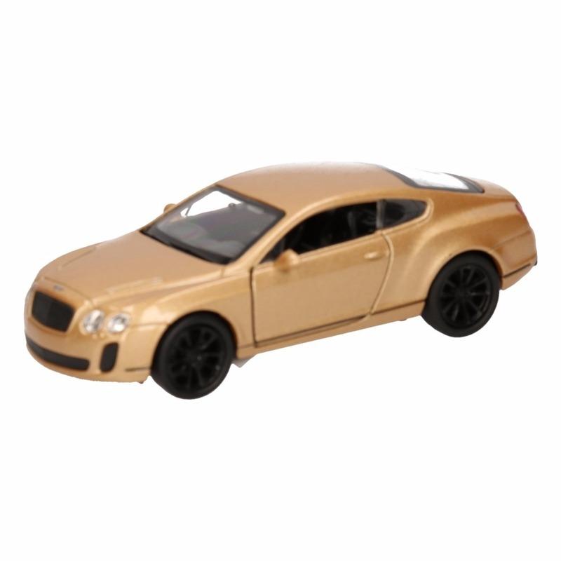 Speelgoedvoertuigen Speelgoed Bentley Continental Supersports goud Welly autootje 12 cm