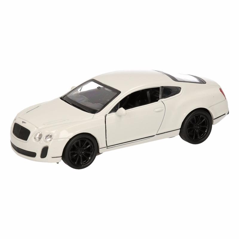 Speelgoedvoertuigen Geen Speelgoed Bentley Continental Supersports wit Welly autootje 12 cm