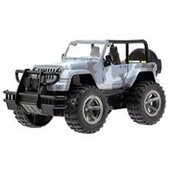 Speelgoed blauwe camouflage Jeep Wrangler Welly 27,5 cm Geen Speelgoedvoertuigen