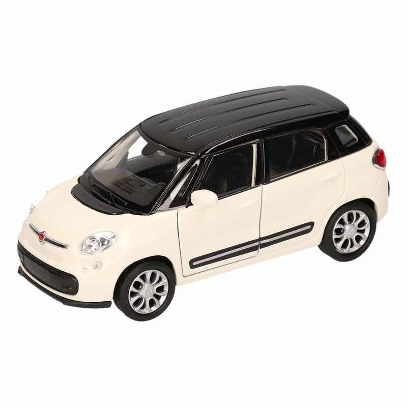Speelgoedvoertuigen Speelgoed Fiat 500 L zwart Welly autootje 11,5 cm