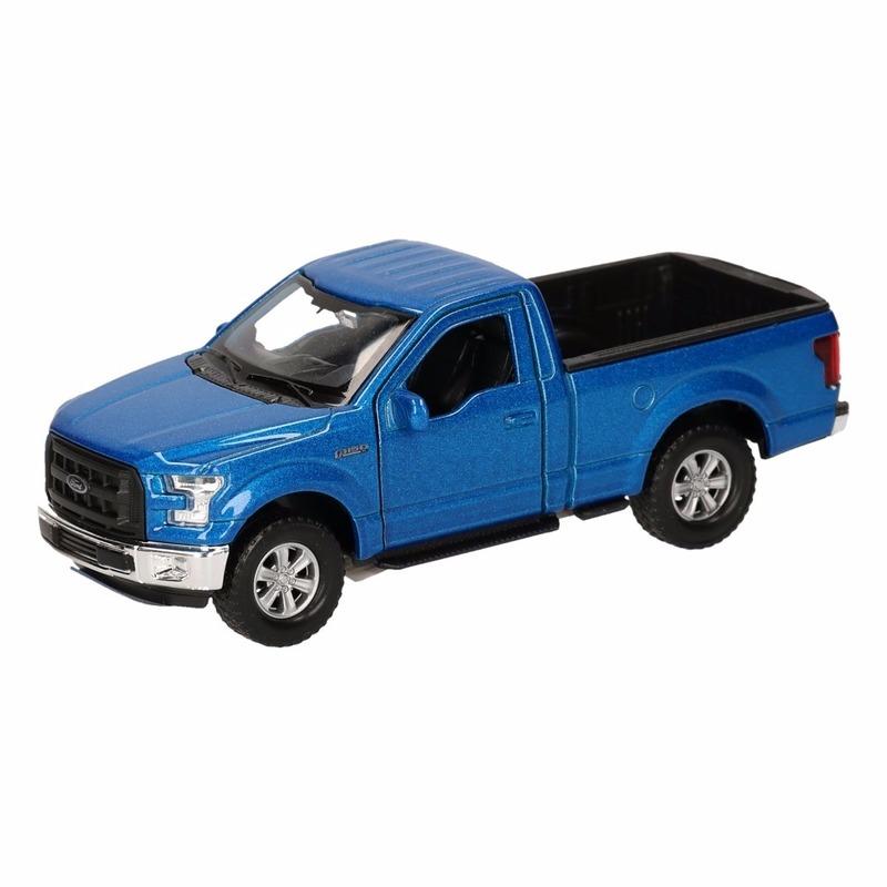 Speelgoed Ford F 150 Pick up truck blauw 12 cm Geen Speelgoedvoertuigen