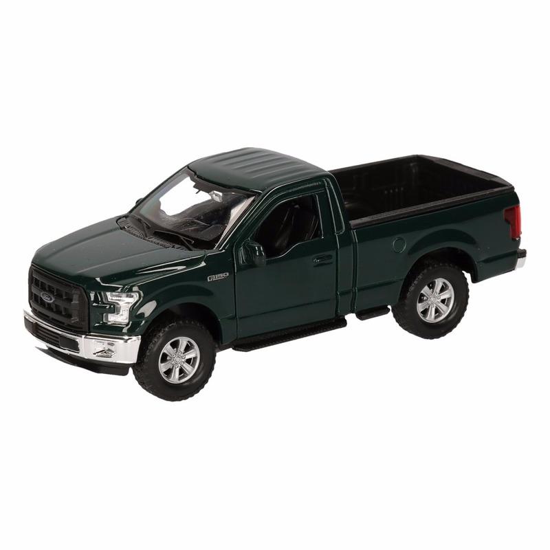 Speelgoedvoertuigen Geen Speelgoed Ford F 150 Pick up truck donkergroen 12 cm