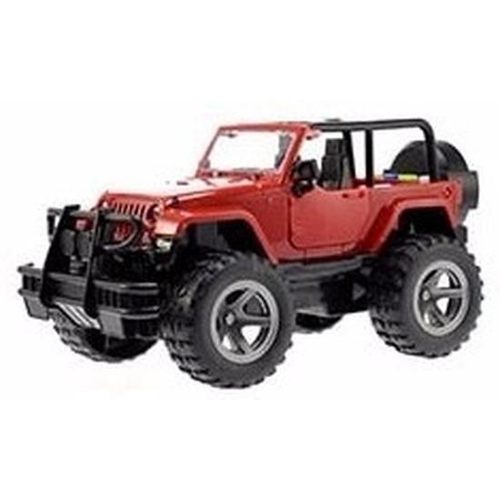 Speelgoedvoertuigen Speelgoed Jeep Wrangler rood Welly met licht en geluid 27,5 cm