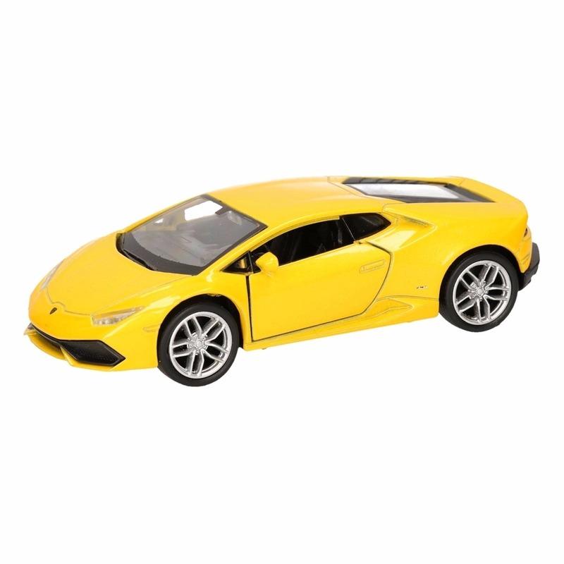 Speelgoedvoertuigen Lamborghini Speelgoed Lamborghini Huracan LP610 4 geel Welly autootje 12 cm