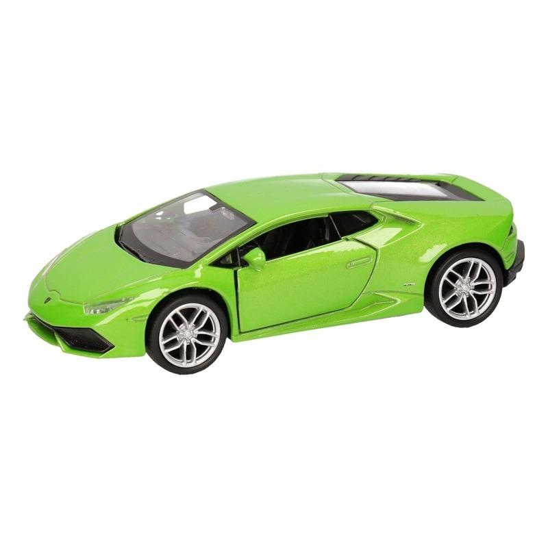 Speelgoed Lamborghini Huracan LP610 4 groen Welly autootje 12 cm Lamborghini voordeligste prijs