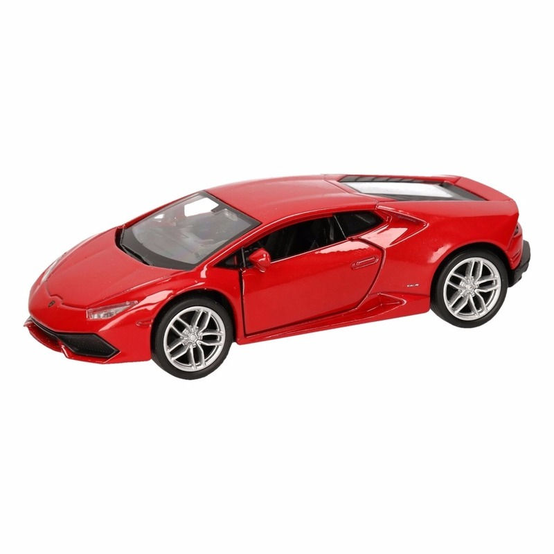 Speelgoedvoertuigen Speelgoed Lamborghini Huracan LP610 4 rood Welly autootje 12 cm