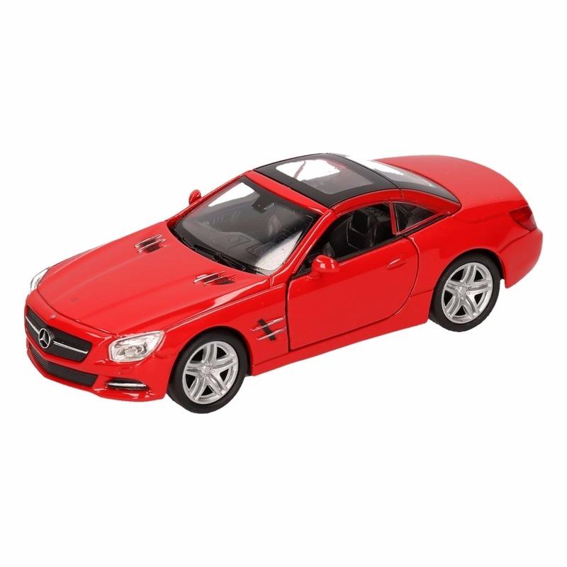 Speelgoedvoertuigen Mercedes Speelgoed Mercedes Benz 2012 SL500 rood Welly autootje 12 cm