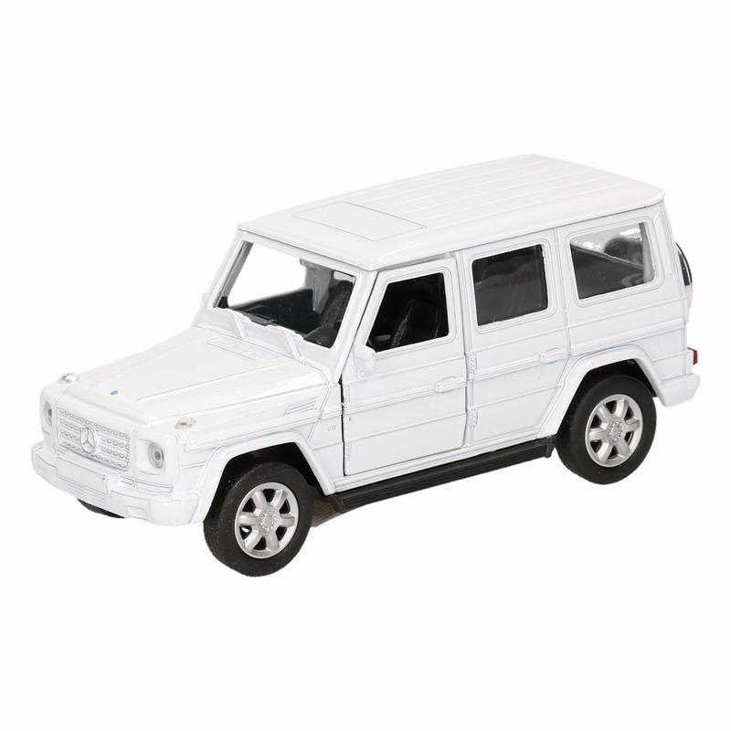 Speelgoedvoertuigen Speelgoed Mercedes Benz G Class wit 12 cm