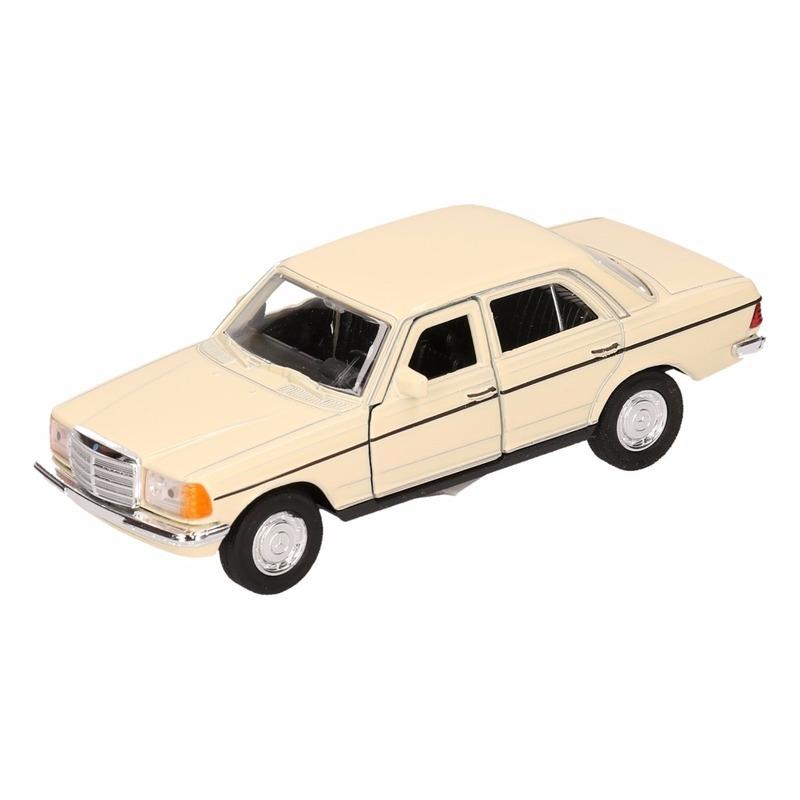 Mercedes Speelgoed Mercedes Benz W123 geel Welly autootje 16 cm Speelgoedvoertuigen