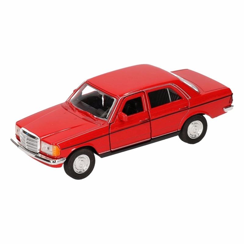 Speelgoedvoertuigen Speelgoed Mercedes Benz W123 rode Welly autootje 16 cm
