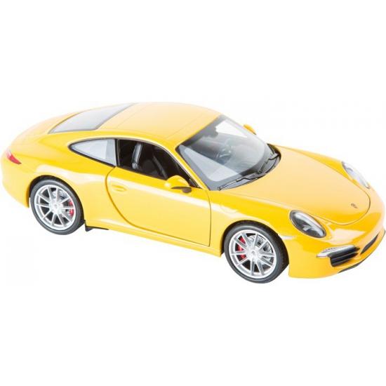 Speelgoedvoertuigen Speelgoed modelauto Porsche 911 Carrera geel 1 24
