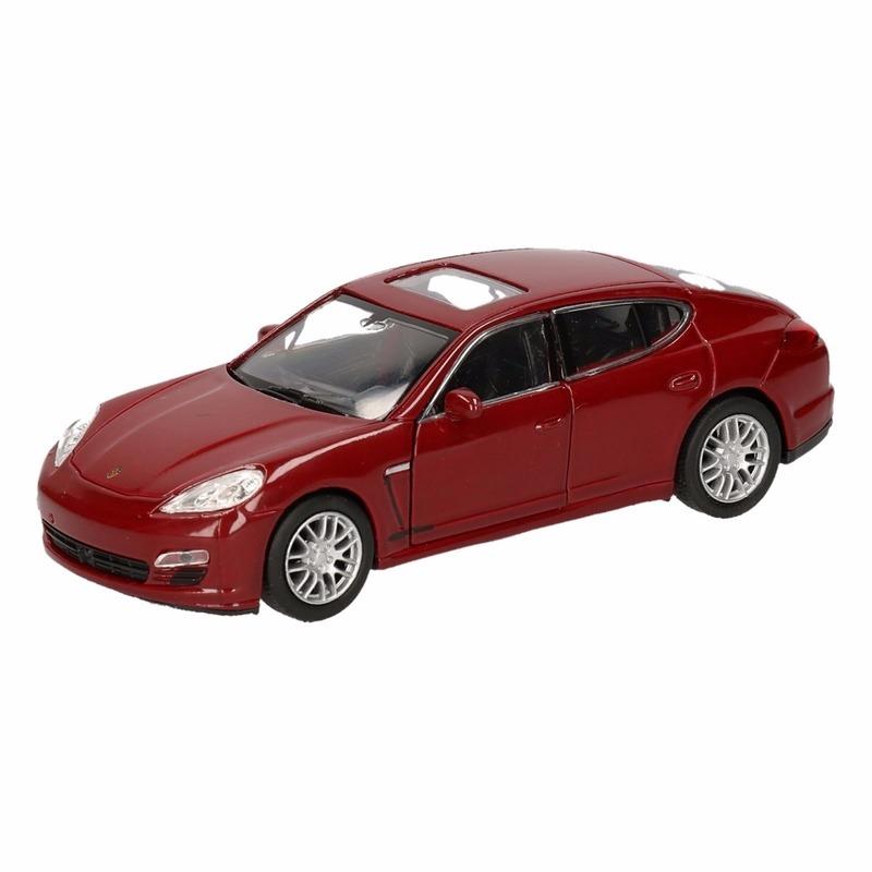 Speelgoedvoertuigen Speelgoed Porsche Panamera S rood autootje 12 cm