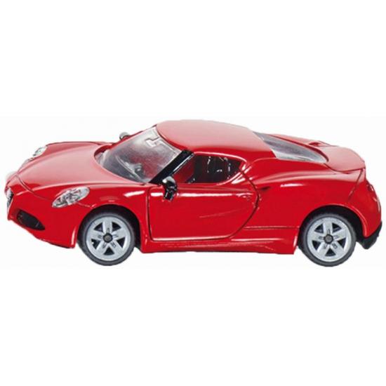 Siku Speelgoed sport auto Alfa Romeo rood Speelgoedvoertuigen