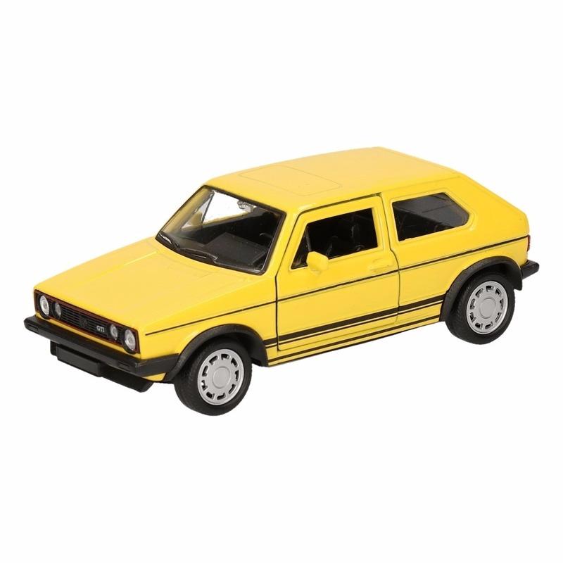 Speelgoedvoertuigen Volkswagen Speelgoed Volkswagen Golf GTI I geel 12 cm