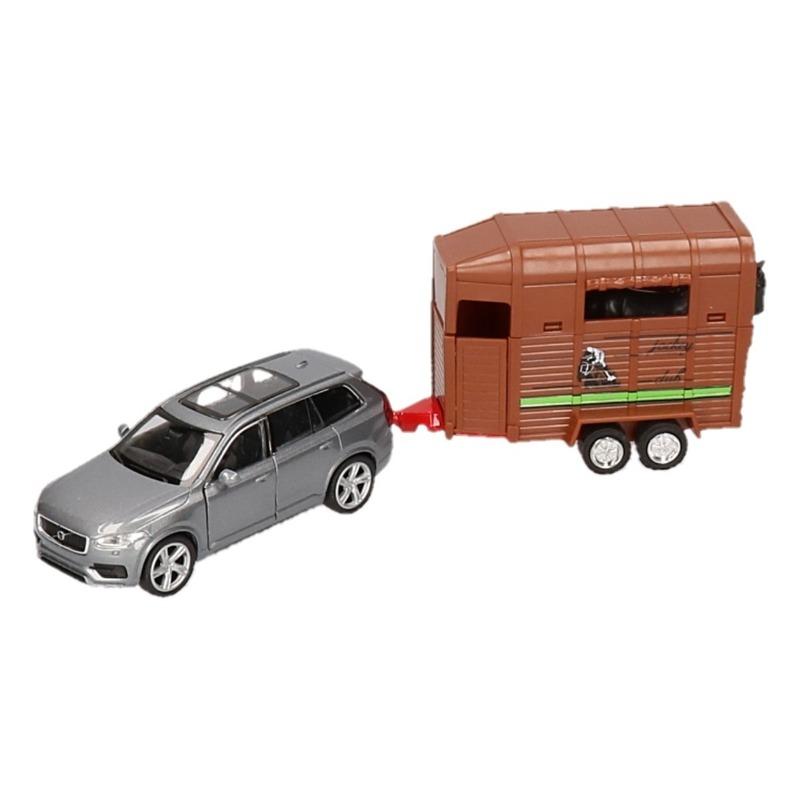 Speelgoedvoertuigen Welly Speelgoed Volvo met paardentrailer 1 34