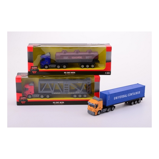 Geen Speelgoed vrachtwagen met olie oplegger Speelgoedvoertuigen