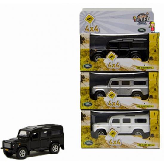 Speelgoedvoertuigen Speelgoed zwarte Landrover 20 cm