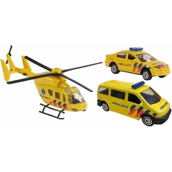 Speelgoedauto ambulance set 3 delig Geen Speelgoedvoertuigen