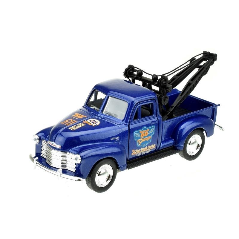 Speelgoedvoertuigen Welly Speelgoedauto Chevrolet 1953 stepside takelwagen blauw 1 34