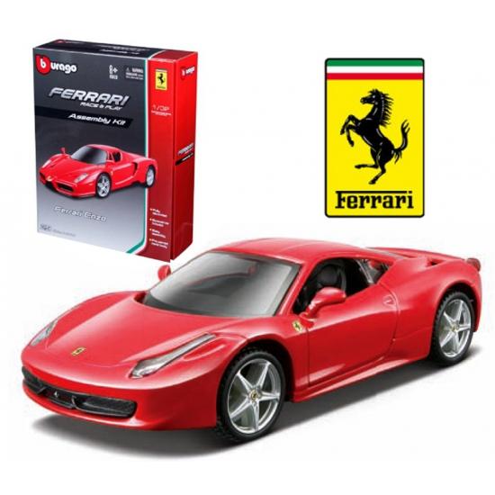 Speelgoedvoertuigen Bburago Speelgoedauto Ferrari 458 Italie rood